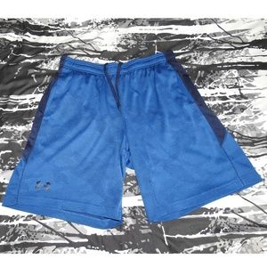 Mens Under Armour Basketball Shorts Blue Size L
